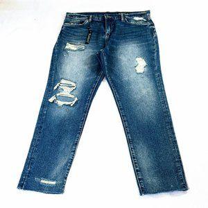 NWT - Blank NYC Crop Girlfriend Distressed Jeans